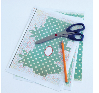 make a gift box with coloured or patterened paper