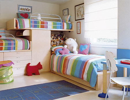 Home dzine bedrooms decorating ideas for shared bedrooms - Shared bedroom ideas for small rooms ...