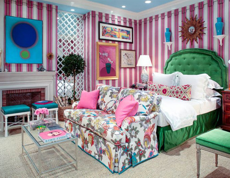 Colourful home interiors interior design pink green teal turquoise