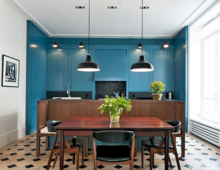 Colourful home interiors interior design teal turquoise brown black