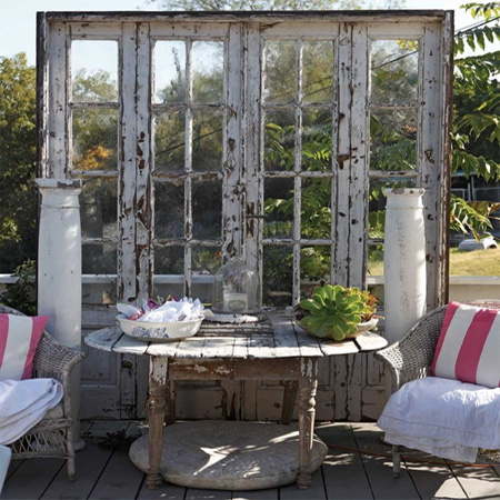 ideas and ways to repurpose upcycle recycle use old doors outdoor deck patio feature focal point