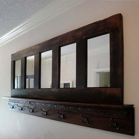 ideas and ways to repurpose upcycle recycle use old doors mirror panel entrance hall
