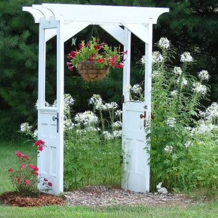 ideas and ways to repurpose upcycle recycle use old doors outdoor garden gazebo arch