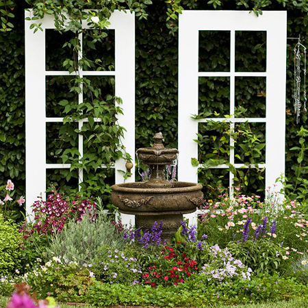 ideas and ways to repurpose upcycle recycle use old doors garden feature focal point