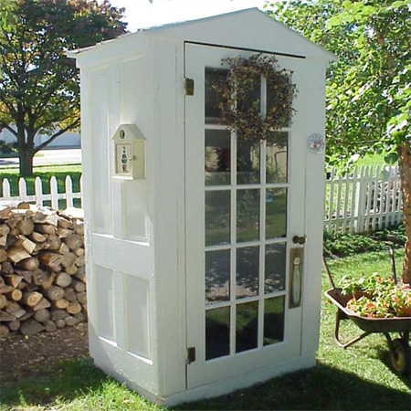 ideas and ways to repurpose upcycle recycle use old doors outdoor garden potting shed