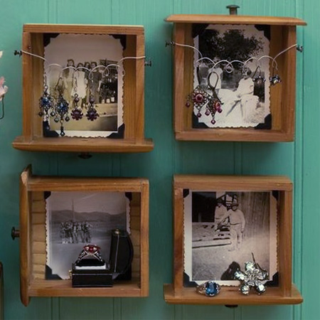 Repurpose an old drawer into a photo gallery