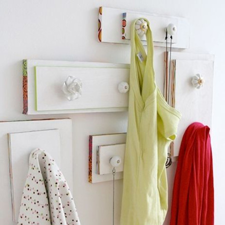 Repurpose an old drawer into a coat hook hanger