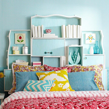 Repurpose an old drawer into a headboard
