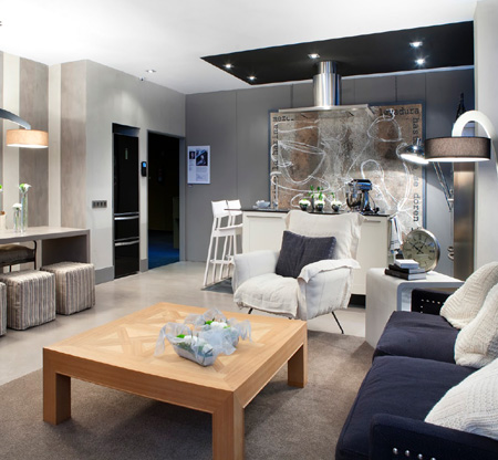 Studio apartment that's big on style