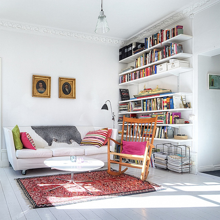decorating with white living spaces interiors scandanavian style