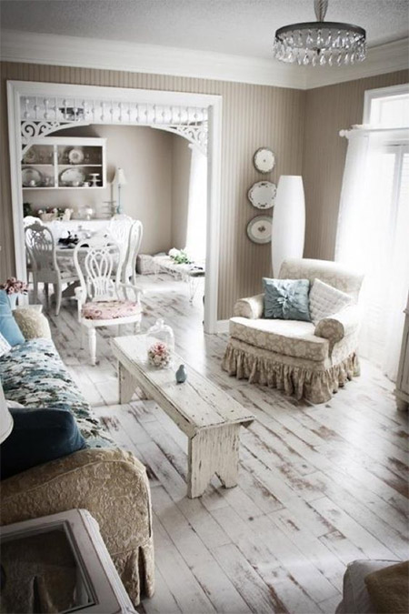 white best apartment and house designs ideas with wooden floor | HOME DZINE | Ideas and tips for painted wood floors