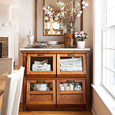 vintage display cabinet kitchen cabinet storage unit