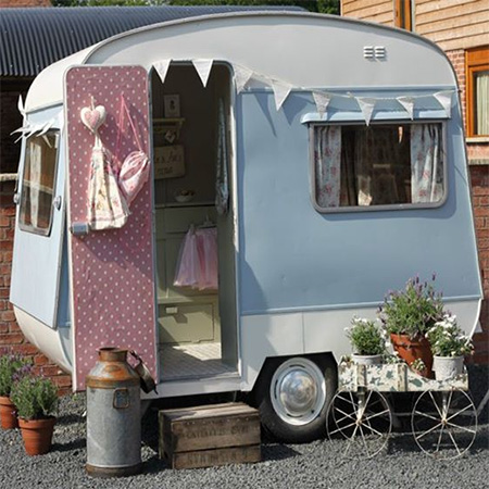 small caravan wendy house playroom
