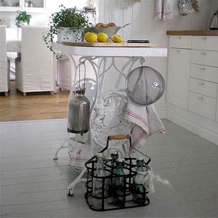 sewing machine stand table kitchen island