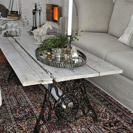 singer sewing machine coffee table desk