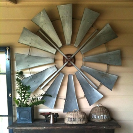 windmill blades wall display home decor