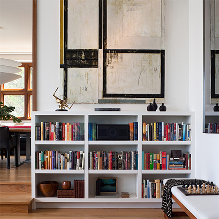 small bookshelf of bookcase styled to look good with decor accessories