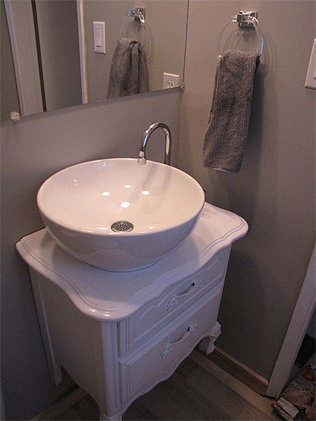 Bathroom Vanity .Co.Za home dzine bathrooms | convert an old chest of drawers into a