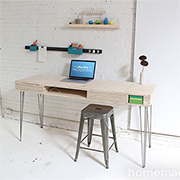 Birch plywood or bamboo flip-top desk