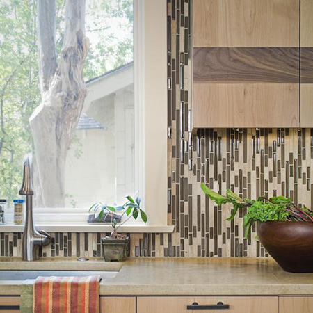 HOME DZINE Kitchen Mosaic tiles for kitchen backsplash