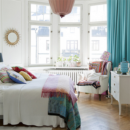 decorating with white living spaces interiors bedroom with colourful accessories