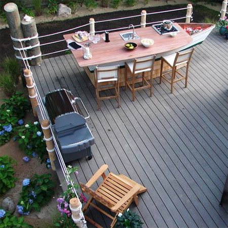Home dzine craft ideas ideas for using rope in the home for Garden decking rope fittings