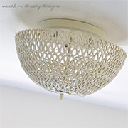 Coiled rope lamp shade