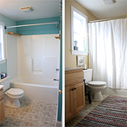 Makeover ideas for bathroom in rental home