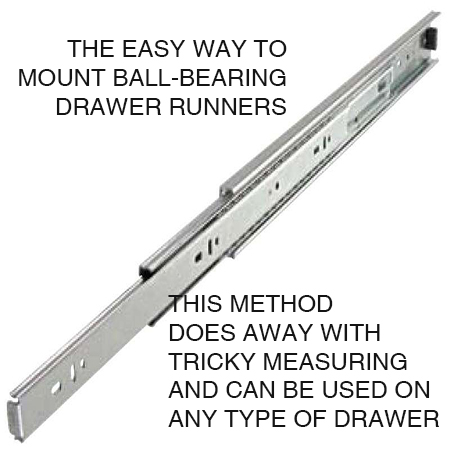 Home Dzine Home Diy Secret To Easy Mount Of Ball Bearing Drawer Runners