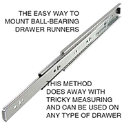 Easy way to install drawer runners