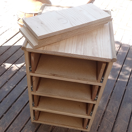 DIY 4-drawer cabinet with easy install drawer runners sand