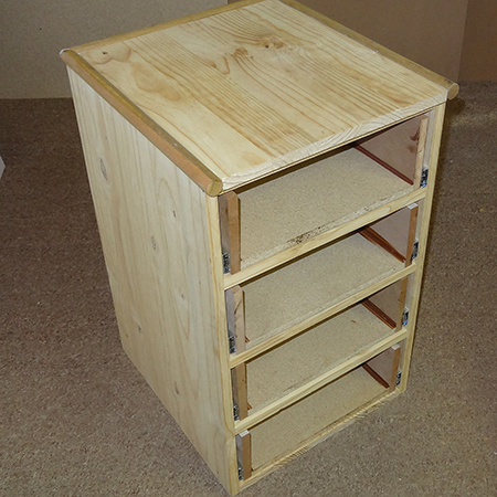 How to make drawers without slides chest of drawers for Divan drawer runners