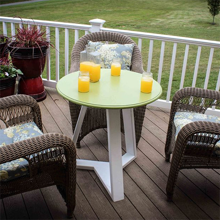 diy garden deck outdoor patio table