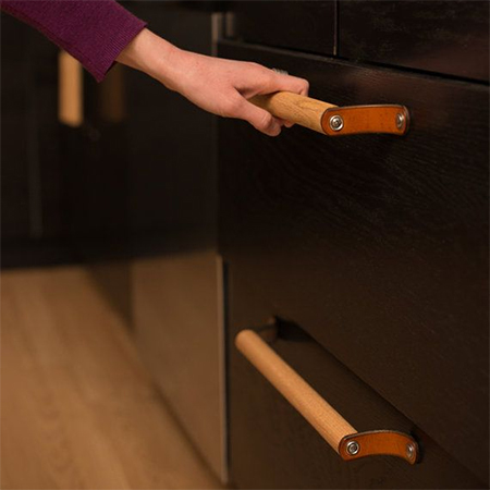 leather dowel diy cabinet handles