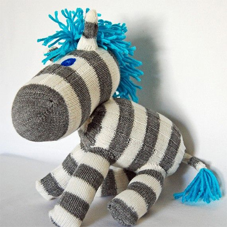 ... make cute stuffed toys. An old pair of thick woolly socks or sleeve from a knitted jersey or cardigan and