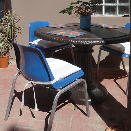 rustoleum 2x satin dark walnut or universal gloss cobalt blue plastic steel patio furniture