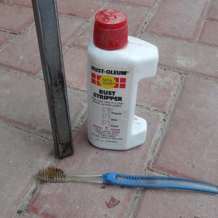rustoleum rust stripper on steel patio furniture