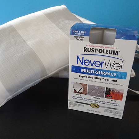 rustoleum neverwet applied to outdoor cushions pillows
