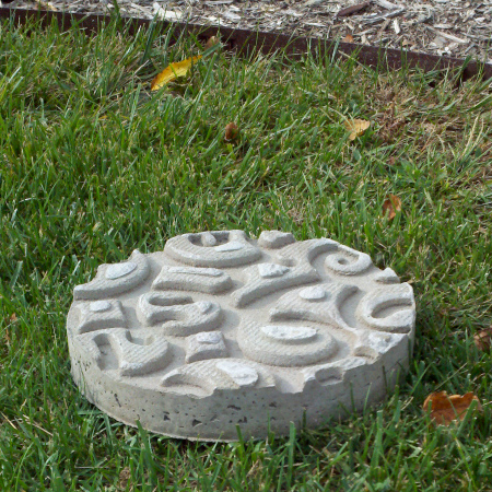 stepping stone rubber mat concrete diy