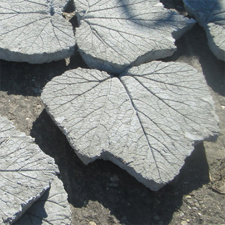 stepping stone mosaic rhubarb leaf design concrete diy