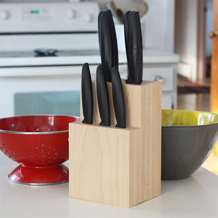 home dzine home diy how to make your own knife block how to make a kitchen knife for free