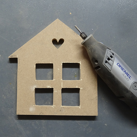 use dremel 3000 multitool to sand cut outs
