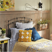 Add rustic charm to a guest bedroom