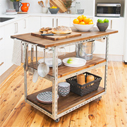 DIY mobile kitchen island