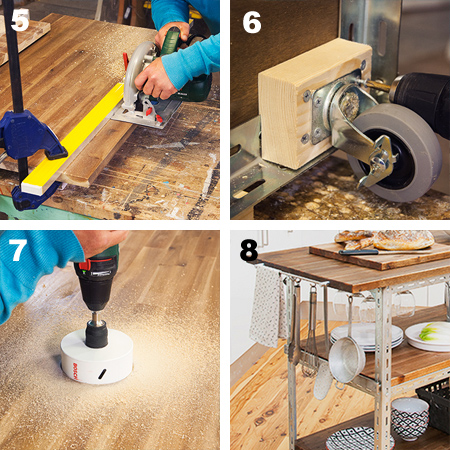 DIY Mobile Kitchen Island Or Workstation Steel Shelving Components
