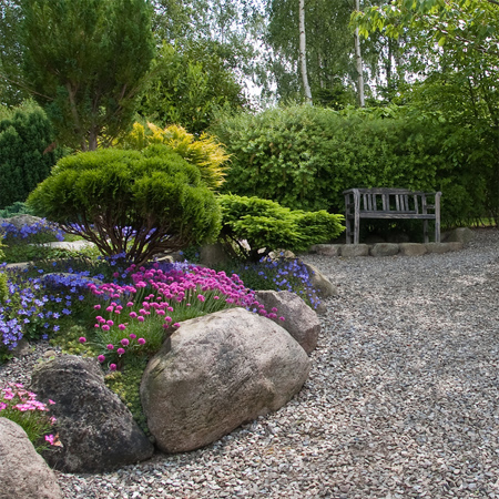 Cheap Low Maintenance Garden Gravel Paths With Low Maintenance Garden Ideas