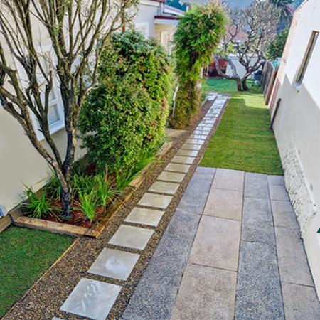 Home Dzine Garden Design A Decorative Side Path