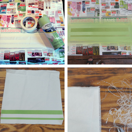 spray paint canvas serviettes napkins