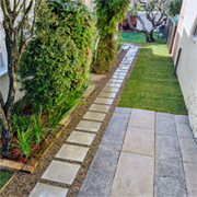 Design a decorative side pathway
