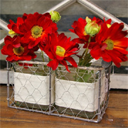 Make chicken wire storage baskets and containers